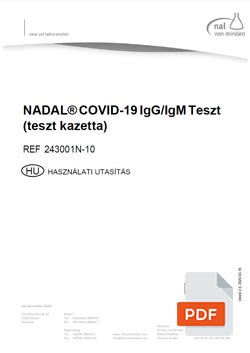 NADAL® COVID-19 IgG/IgM antitest útmutató